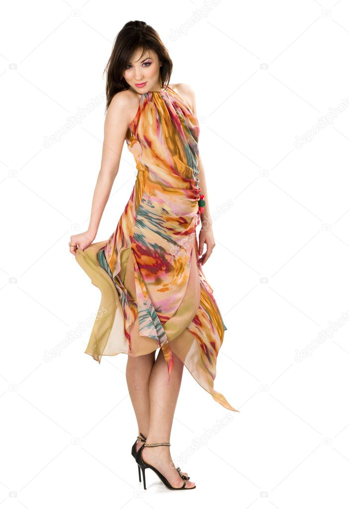 Beautiful Asian woman in yellow dress  — Stock Photo #2821992