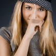 Pretty girl with a hat — Stock Photo