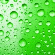 Green water drops for background — Stock Photo