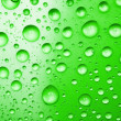 Stock Photo: Green water drops for background