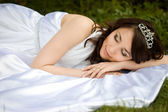 Asleep beautiful woman — Stock Photo