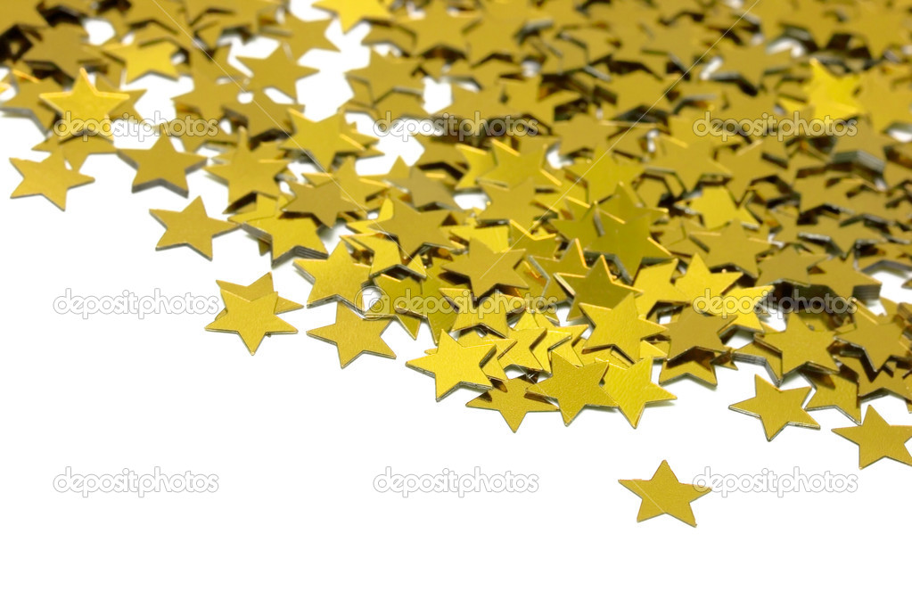 Celebration stars on white background  — Stock Photo #2835140