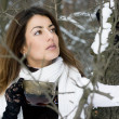 Stock Photo: Beautiful woman in the forest