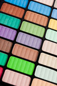 Violet and green make-up eyeshadows — Stock Photo