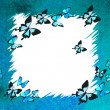 Stock Photo: Abstract background with butterflies