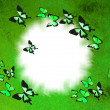 Abstract background with butterflies — Stock Photo