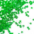 Celebration stars on white background -  