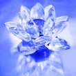 Diamond flower on blue background - Stock Photo