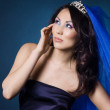 Beautiful girl with diamond crown and veil — Stock Photo #3584894