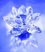 Diamond flower on blue background — Stock Photo