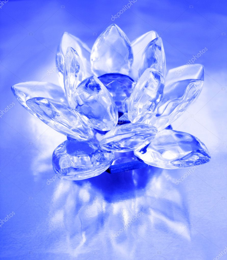 Diamond flower on blue background   Stock Photo #3583594