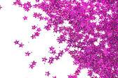 празднование звездами на белом фоне — Стоковое фото