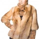 Beautiful woman in a fur coat — Stock Photo #3637909