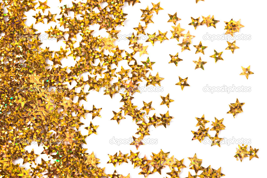 Celebration stars on white background — Photo #3643477