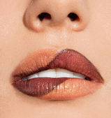 Close-up of beautiful womanish lips — Stock Photo