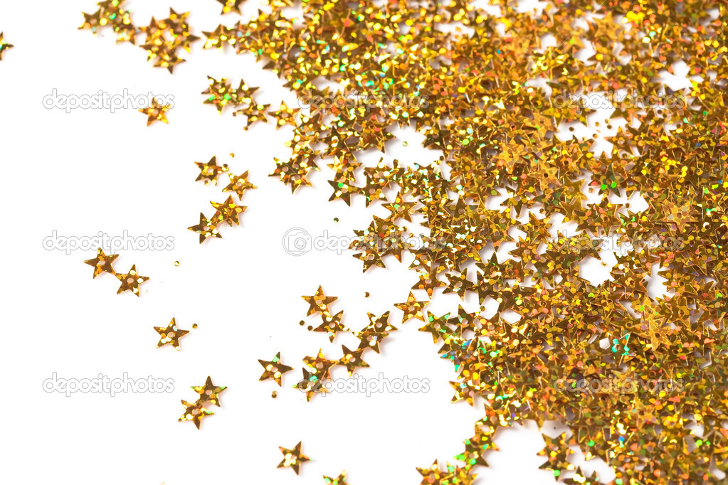 Celebration stars on white background — Stock Photo #3897865