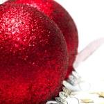 圣诞装饰球与功能区 — 图库照片