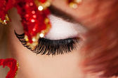 Close-up of beautiful womanish eye — Stockfoto