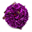 Ball from artificial rose flowers — Stock Photo