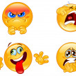 Stock Vector: emotions emoticons
