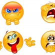 Emotions emoticons — Stock Vector