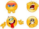 Emoticonos emociones — Vector de stock