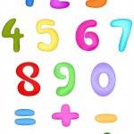 Numbers — Stock Vector