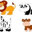 Royalty-Free Stock Vector Image: Cute animals 2