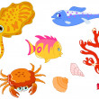 Royalty-Free Stock Vector Image: Sea creatures 2