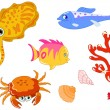 Sea creatures 2 — Stock Vector #2858529