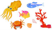 Sea creatures 2 — Stock Vector