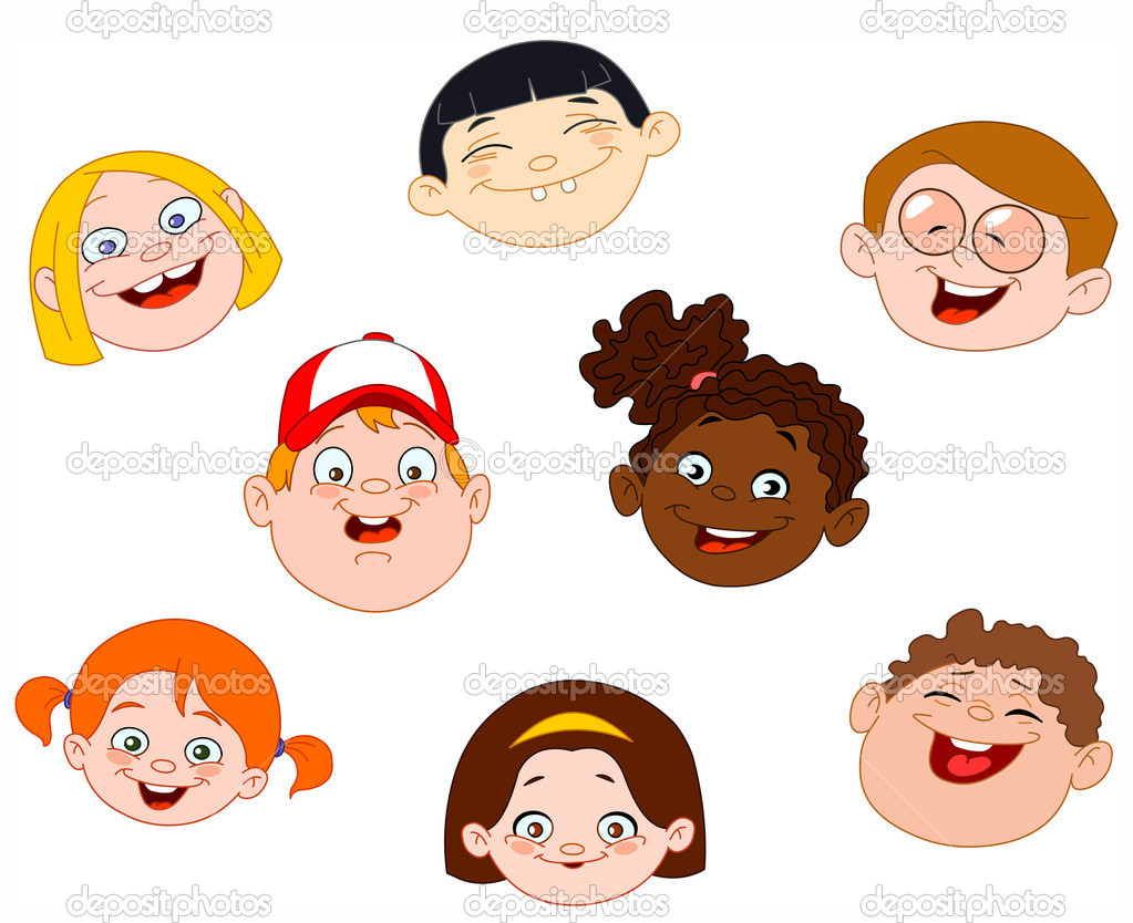 Kids Faces Vector Kids Faces Set — Vector by