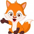 Stock Vector: Baby fox