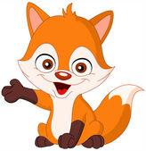 Baby fox — Stock Vector