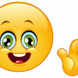 Hello emoticon - Stockvectorbeeld