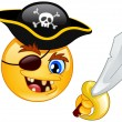 Stock Vector: Pirate emoticon