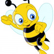 abeille cute — Image vectorielle