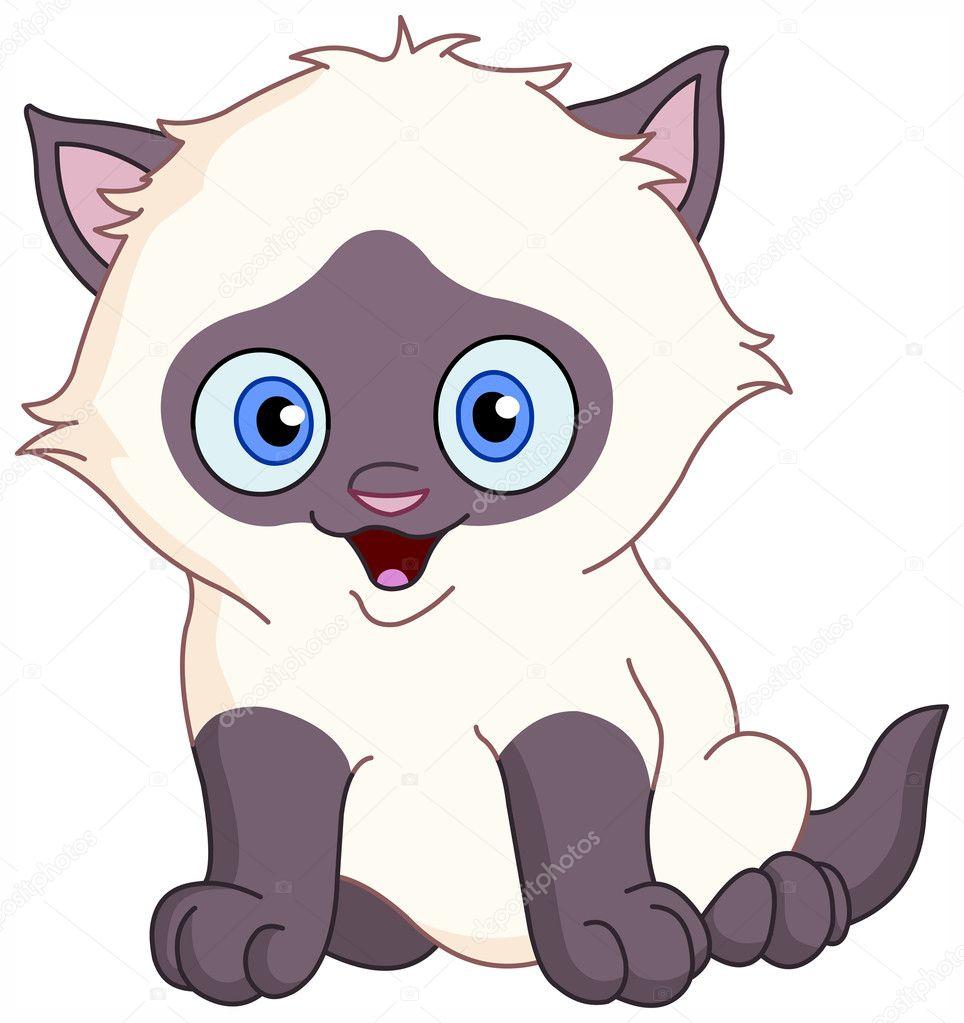 Рисунки сиамские котята