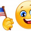 Patriot emoticon — Stockvector