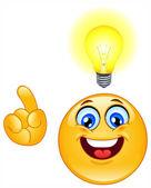 Idea emoticon — Stock Vector