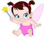 Baby fairy — Stock Vector