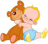 Baby hug bear — Stock Vector