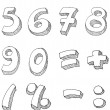 Numbers hand written — Vector de stock #3281949