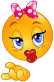 Emoticon de beijo — Vetorial Stock