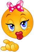 Emoticono beso — Vector de stock