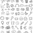 Stock Vector: Icon doodles