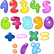 Bubble numbers - Stock Vector