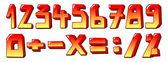 Stylized numbers — Stock vektor