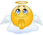 Emoticon ange — Vecteur