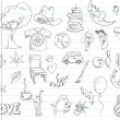 Royalty-Free Stock Vector Image: Doodle set 1